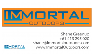 SHane Greenup Immortal Outdoors business card 3