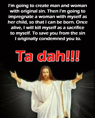 god will sacrifice himself to himself to appease himself