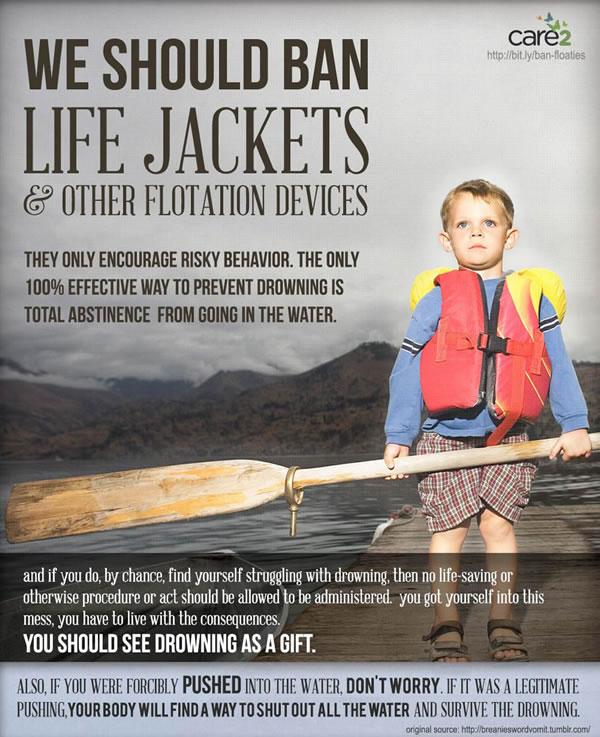 we should ban life jackets rape analogy funny joke haha